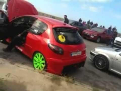 The red beast shooting birds. (Peugeot Sport Lebanon) #iDriveiCare