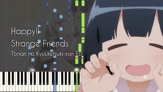 Happy!! Strange Friends - Tonari no Kyuuketsuki-san ED - Piano Arrangement [Synthesia]