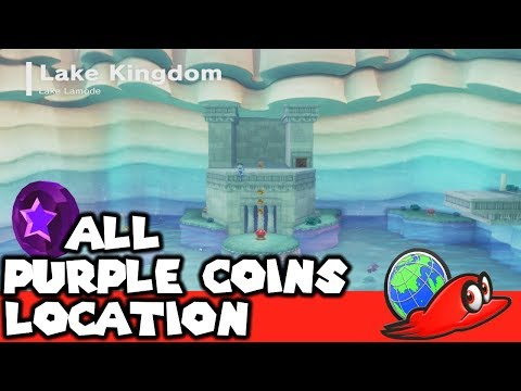 How To Get All 50 Purple Coins In Lake Kingdom | Super Mario Odyssey (Purple Local Coins Location)