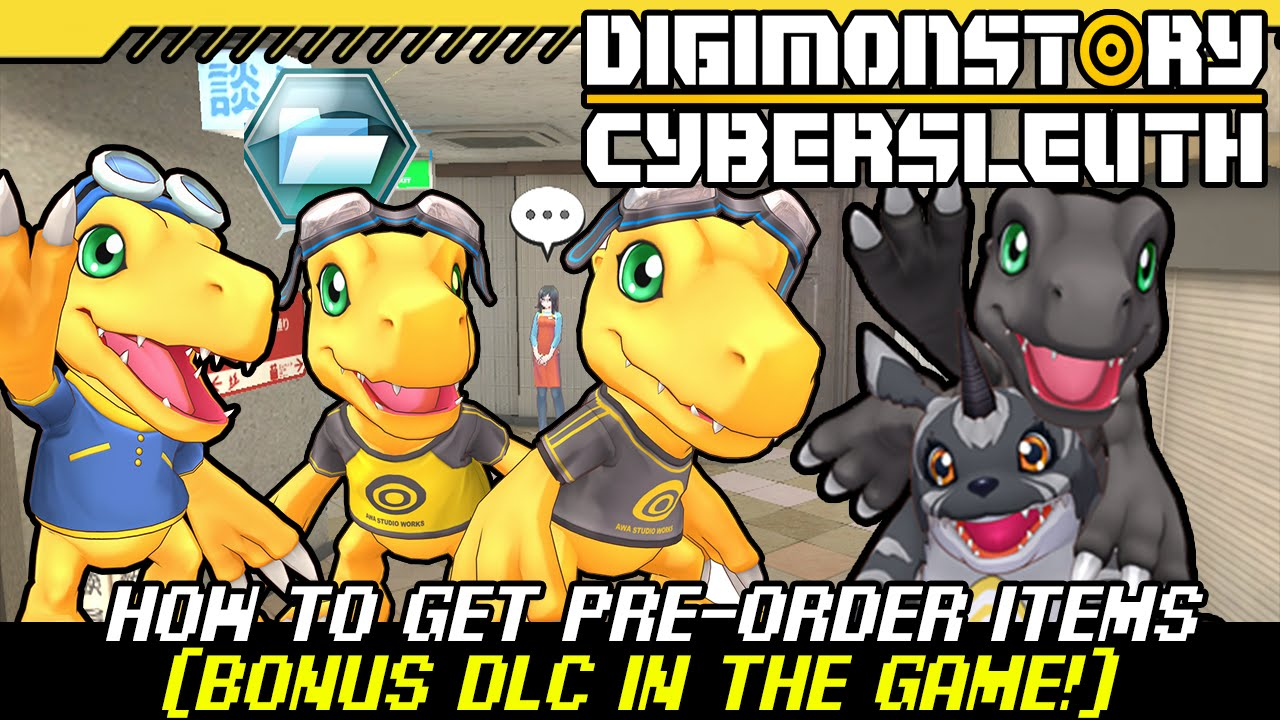 Pre Order Code Recovery Form - Digimon story cyber sleuth how to get pre order bonus dlc items in the game