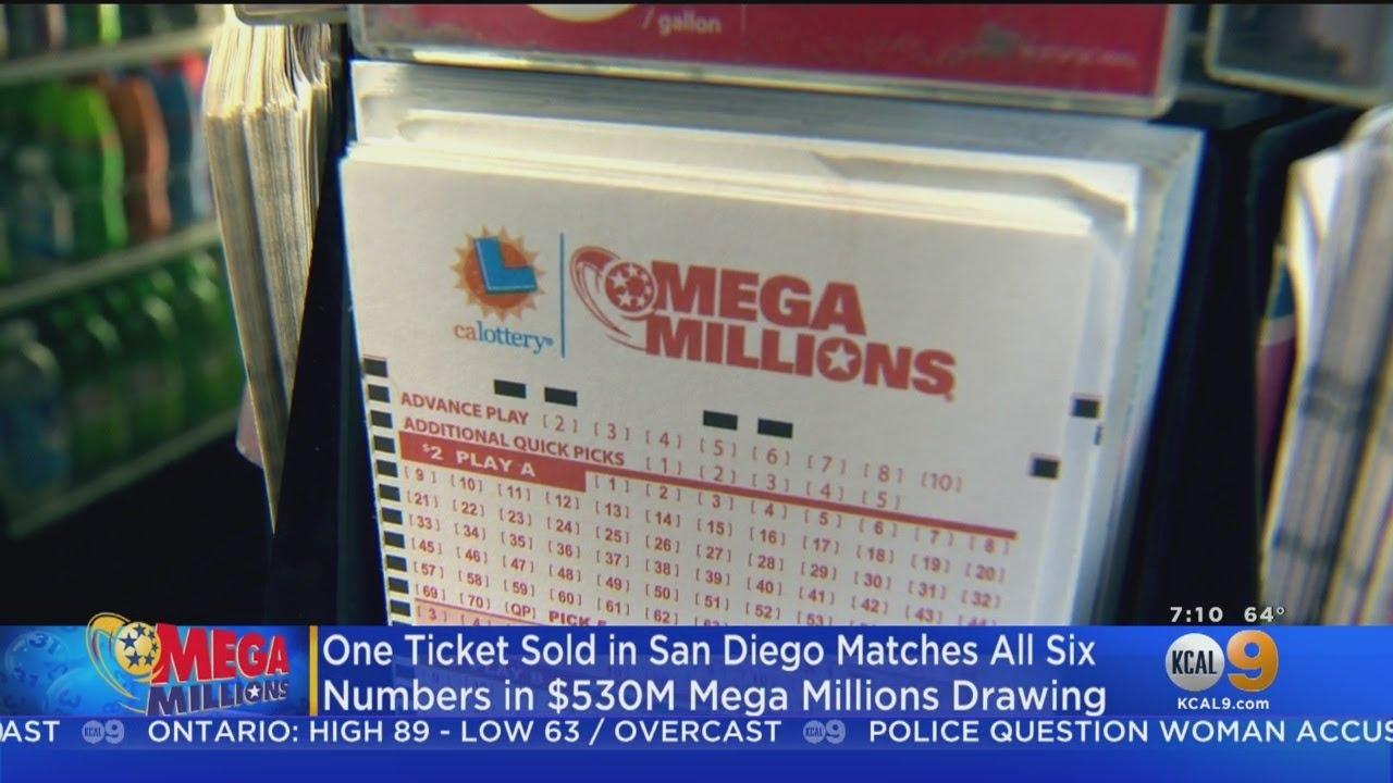 Winning Mega Millions Ticket Sold In San Diego