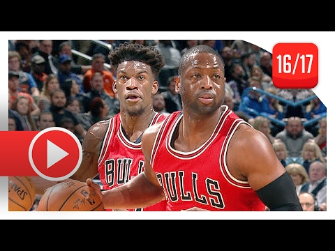 Dwyane Wade & Jimmy Butler Full Highlights vs Thunder (2017.02.01) - TOO GOOD!