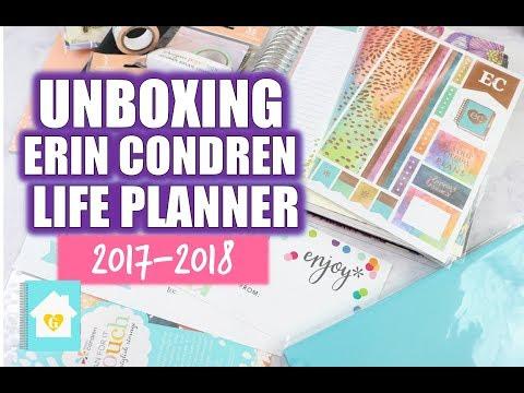 Unboxing the 2017-2018 Erin Condren Life Planner | Horizontal