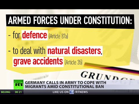 Germany calls in army to cope with migrants against constitution