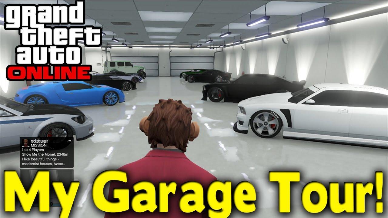 gta online my garage tour gta v youtube