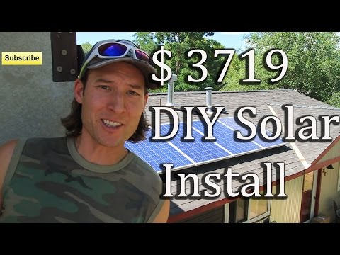HOW TO INSTALL SOLAR PANELS PART 2 DIY ARRAY ENPHASE MICROINVERTERS 1.47 KW SYSTEM TIME LAPSE