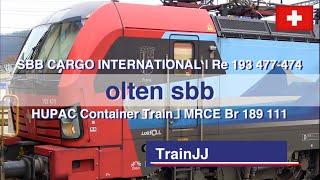 SBB Cargo International Rę 193 477 Close Up - HUPAC | 193 474 | Br 189 111 MRCE | Olten Switzerland