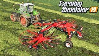 Zgrabianie i belowanie siana - Farming Simulator 19 | #43