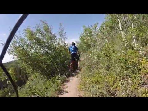 Fish Creek Provincial Park MTB Trail  Bike Ride Calgary . Kona Hei Hei.