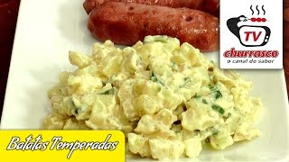Receita de Batatas Temperadas - Tv Churrasco