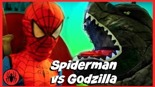 Spiderman vs Godzilla w Pink Girlpool, monkey king, Left Shark fun in real life comics SuperHeroKids