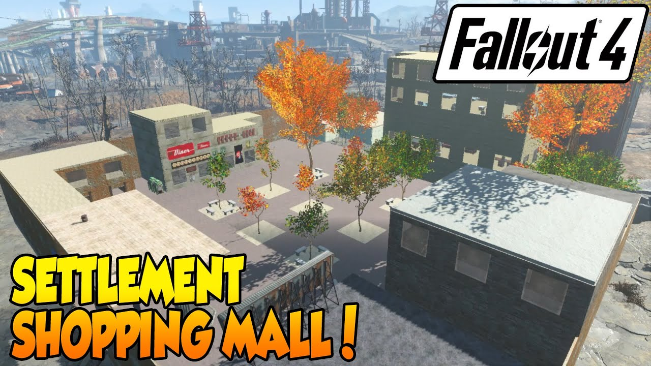 Fallout 4 best settlement shopping mall youtube for Best house designs fallout 4
