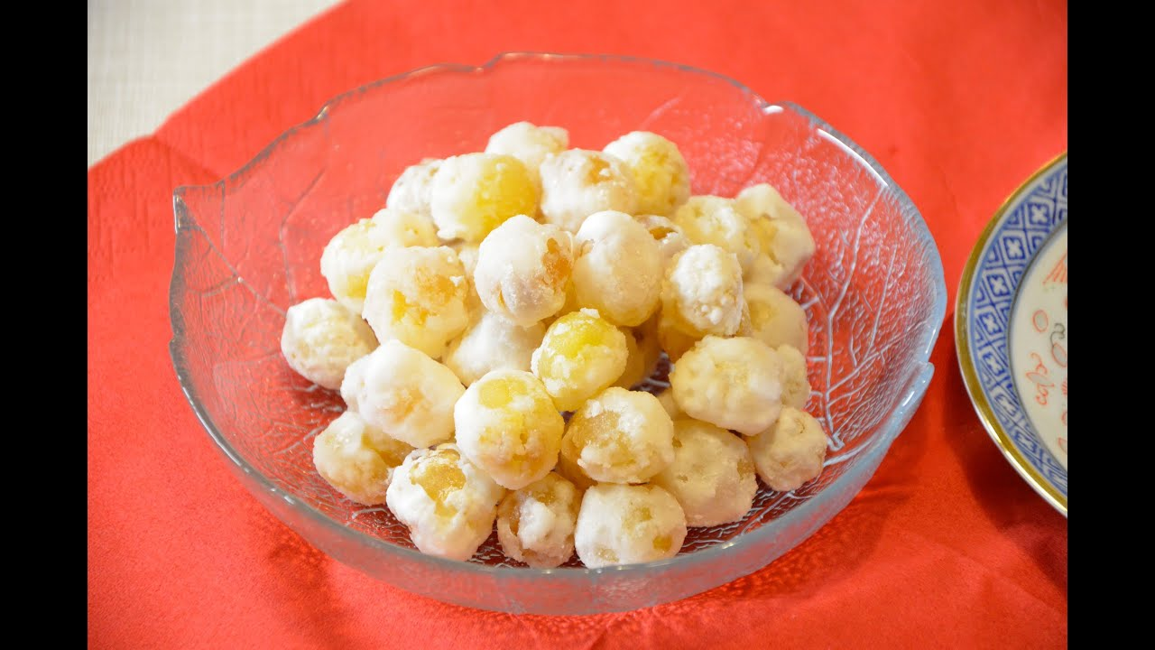 Candied lotus seed 糖蓮子 - YouTube