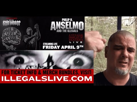 Phil Anselmo and The Illegals announce 'A Vulgar Display Of Pantera' livestream...!
