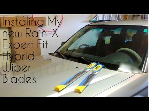 Windsheild Wiper Replacement With Rain X Expert Fit Hybrid Blades