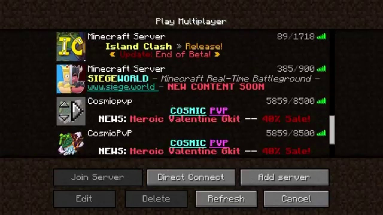 The server ip to cosmicpvp youtube