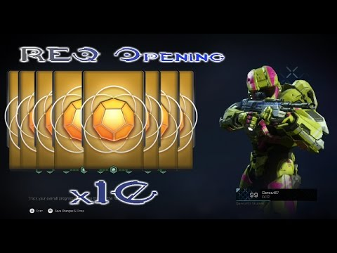Halo 5 REQ Packs Opening (10 Gold Packs)