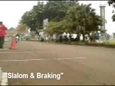 "HTML Bogor ""Safet Riding Course 2009"" - Slalom And Panic Braking Exercise"