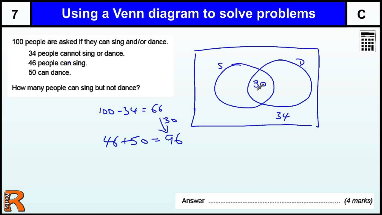 Venn diagram to solve problems gcse maths revision exam paper venn diagram to solve problems gcse maths revision exam paper practice youtube pooptronica Images
