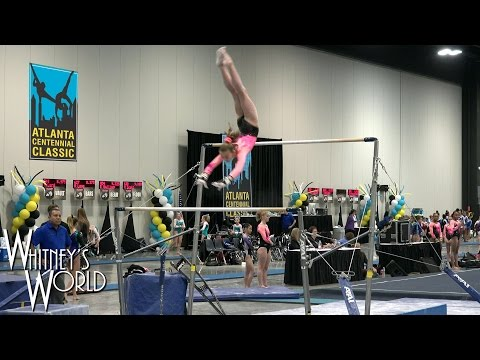 Whitney Bjerken   3rd Level 9 Gymnastics Meet   Snot on the Vault Blood on the Beam