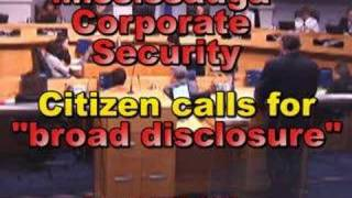 """MISSISSAUGA Corporate (City) Security """"BROAD DISCLOSURE"""""""