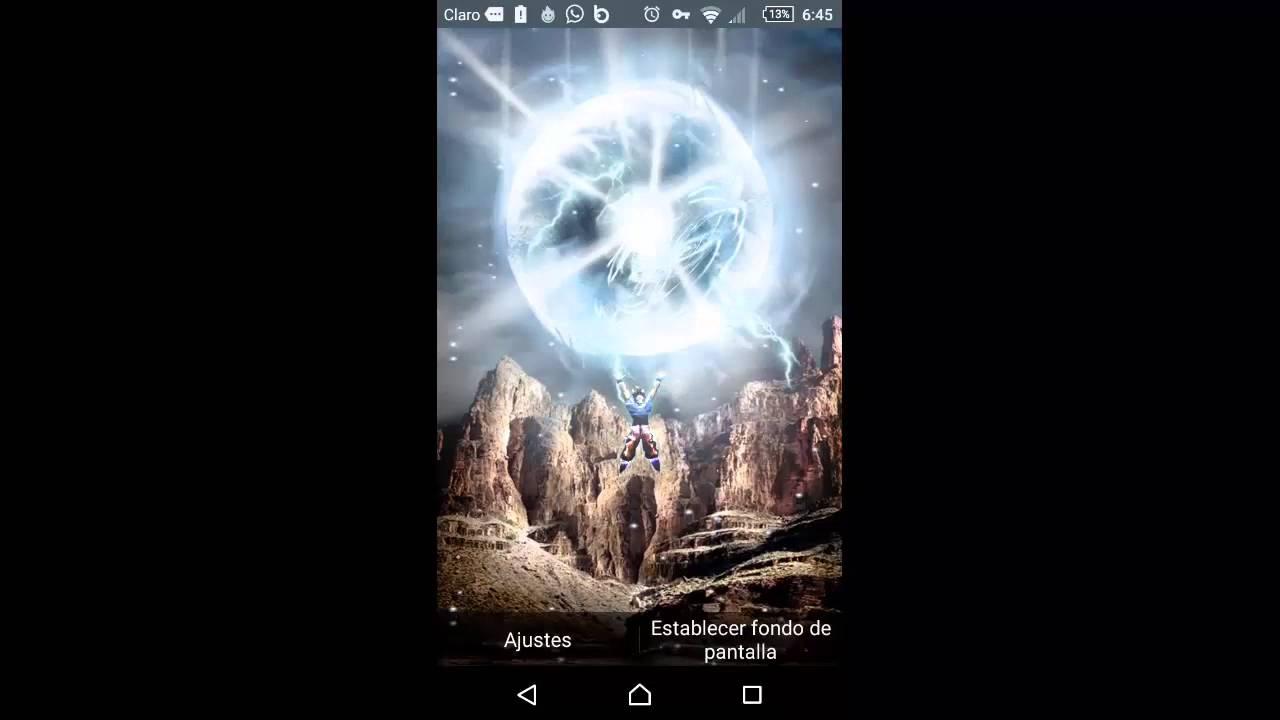 Wallpaper Live Android Goku Haciendo La Genkidama Youtube