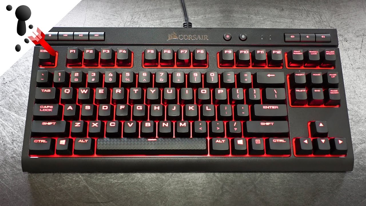 Corsair K63 Review Tenkeyless With Dedicated Media Keys Youtube