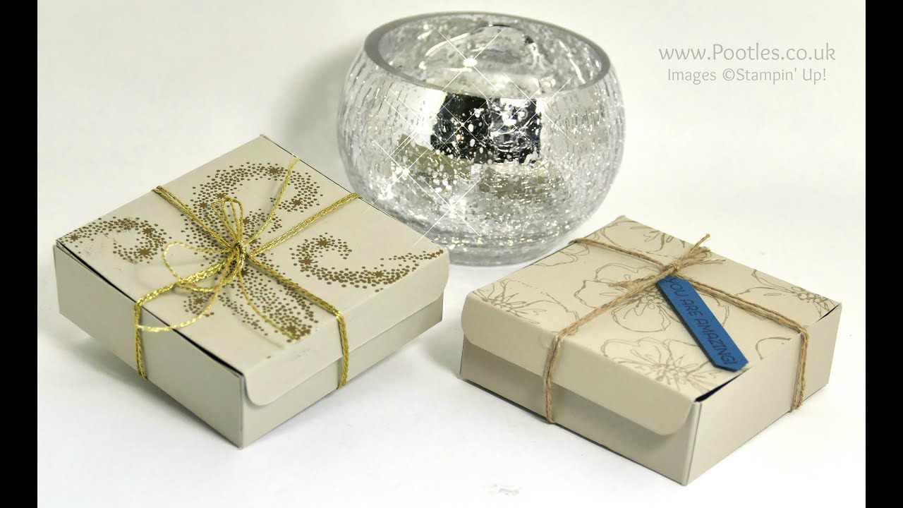 Elegant Gold Embossed Box using Stampin\' Up! Star of Light - YouTube
