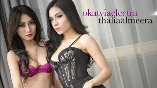 Duo Indonesian Hot Model  - Sexy Boudoir with Thalia Almeera and Octavia Electra