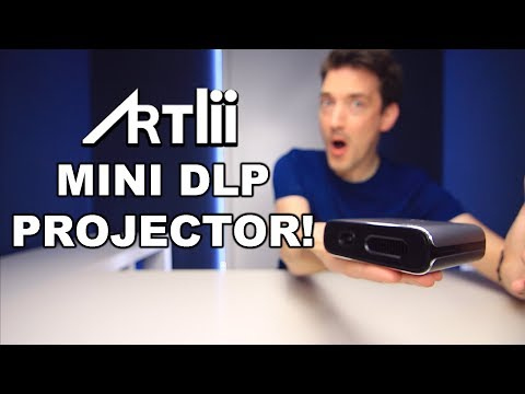 Artlii Portable DLP Projector with 5200mAh Built-in Battery ...