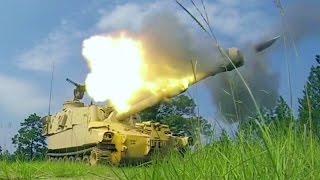 بالفيديو والصورـ مدفع ذاتي الحركة يستعرض قدراته القتالية