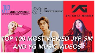 TOP 100 MOST VIEWED JYP, SM, AND YG MUSIC VIDEOS [Read Description]