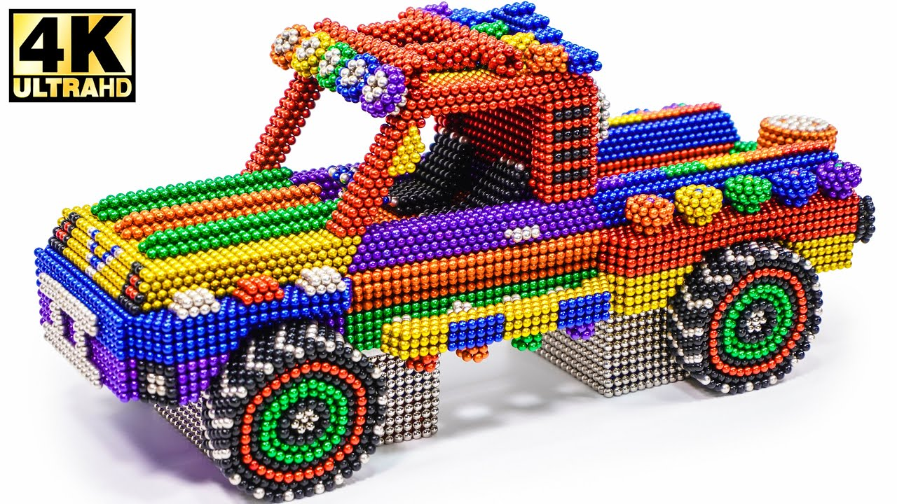 DIY - How To Make Amazing Off Road Pickup Truck from Magnetic Balls (ASMR) | Magnetic Man 4K