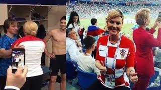 Croatian President hugging Luka Modric and other Croatian football players | FIFA World Cup 2018 |