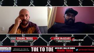 Liam McGeary talks Bellator 185 injury with Frank Trigg