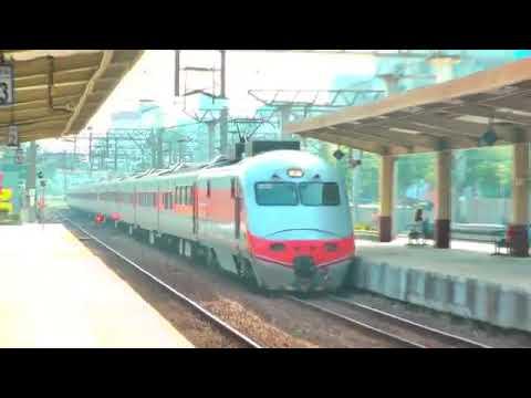 [HD] The Taiwan TRA up Tzu-Chiang Limited Express E1000 Train No. 118 pass the Shulin Station