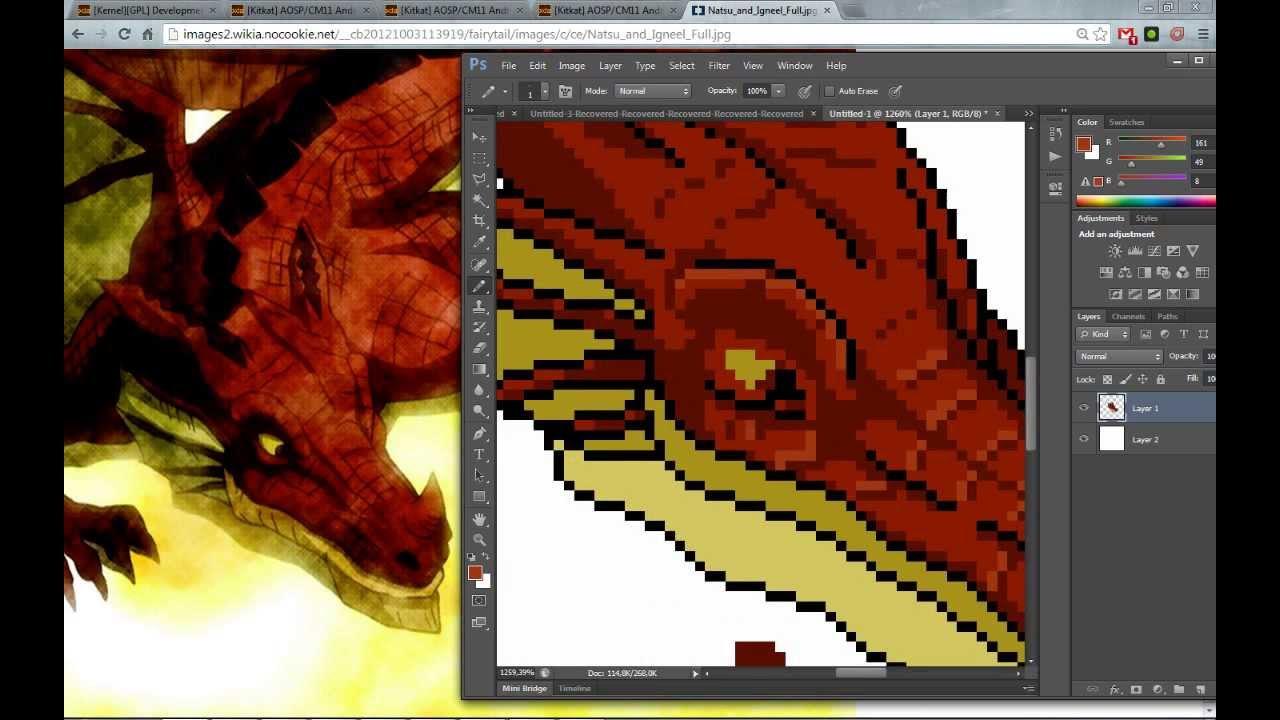 Igneel - Pixel Art - Fairy Tail Online - YouTube