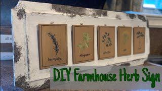 Target Dollar Spot DIY/Dollar Tree DIY/Farmhouse Sign/ DIY Kitchen Decor