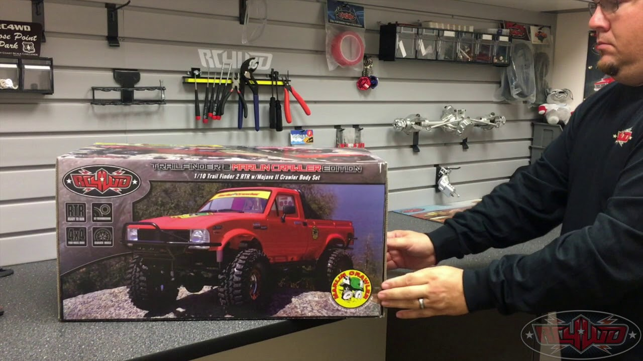 RC4WD Unboxing of Our RC4WD Marlin Crawlers Trail Finder 2 RTR w/Mojave II  Crawler Body Set!!