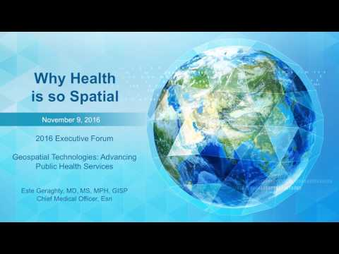 GIS Executive Forum 2016 - Keynote Presentation (GIS for Public Health Services)