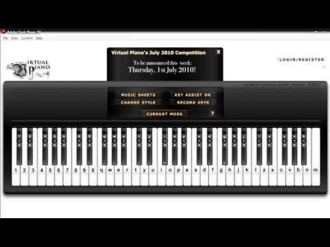 Piano virtual piano chords : Why Not Me - Enrique Iglesias - Virtual Piano with Autokeyboard ...