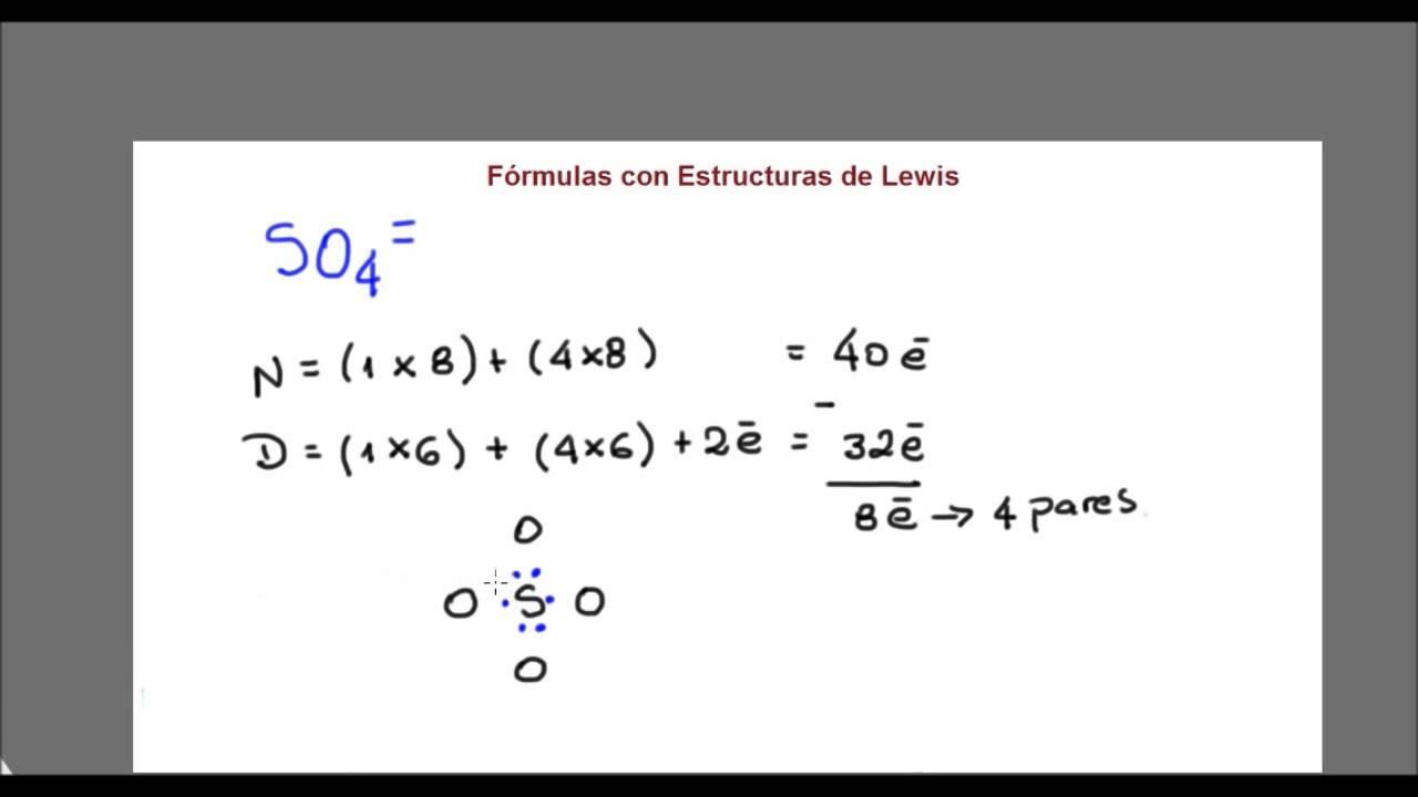 Química General Estructuras De Lewis So4 2