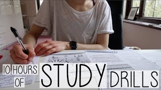 Baixar 10 HOUR WINTER HOLIDAY STUDY WITH ME | INTENSE REVISION DRILLS  & MAKING NOTES