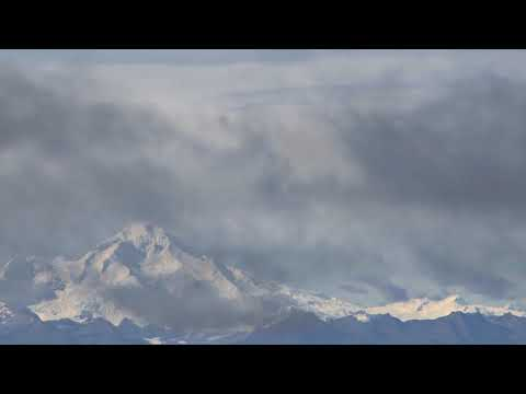 [10 Hours] Clouds over Snow Covered Mountains - Video & Audio [1080HD] SlowTV