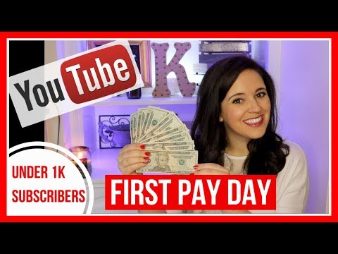 My First YouTube Check! How Much I Make Under 1K Subscribers