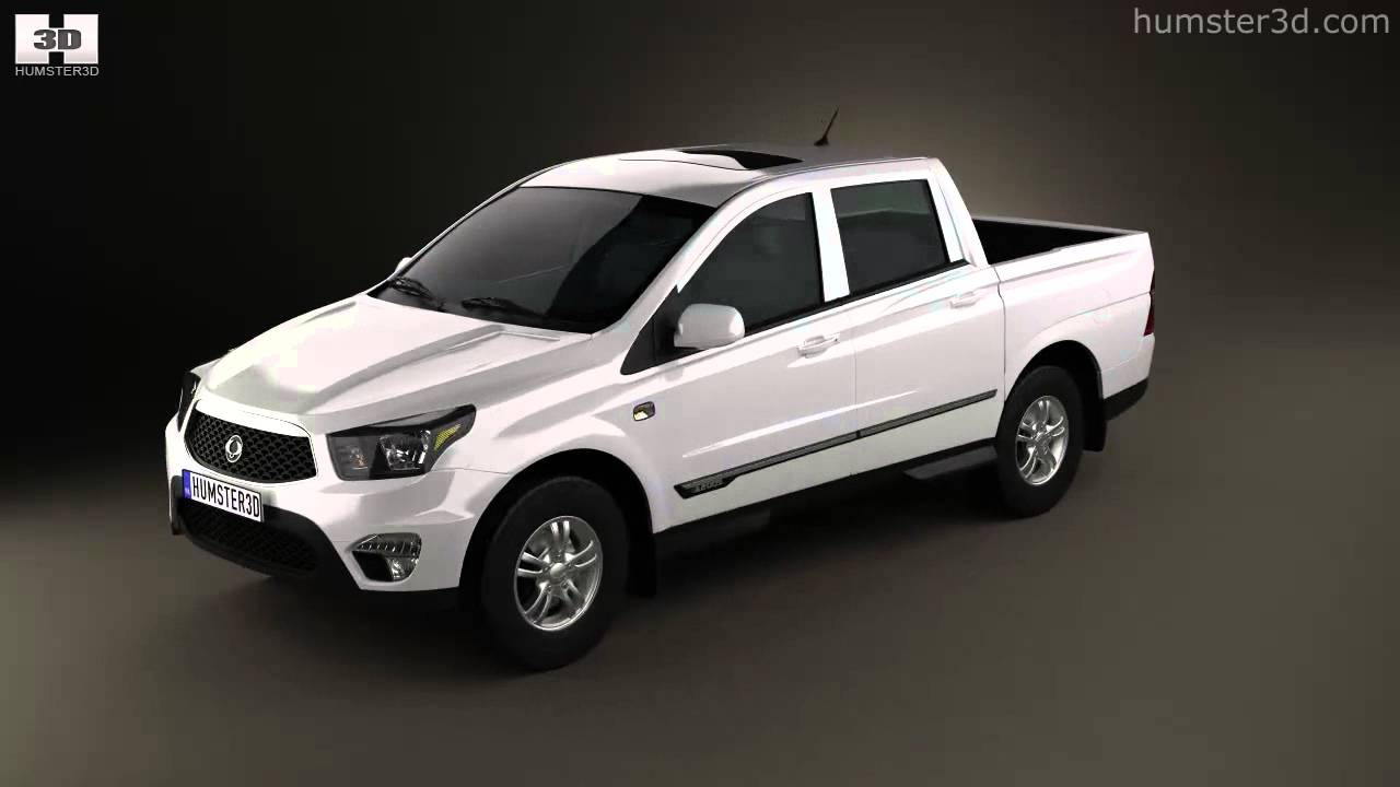 ssangyong korando sports new actyon 2012 by 3d model store youtube. Black Bedroom Furniture Sets. Home Design Ideas