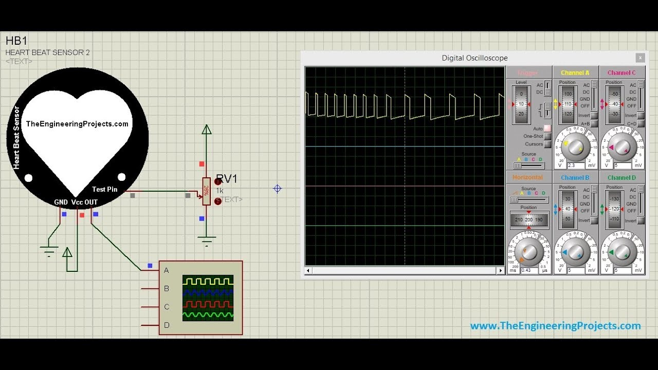 Heart Beat Sensor Library V2 0 for Proteus by The