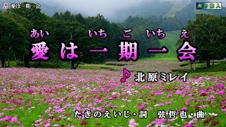 北原ミレイ【愛は一期一会】カラオケ