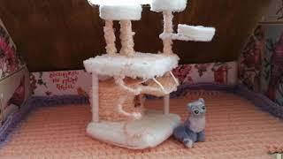 DIY Miniature Cat Accessories/Cat Нouse/DIY Dollhouse/Домик для Котейки/