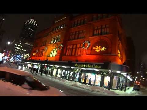 HD Video Montreal Walking St-Catherine Street St-Urbain to Atwater